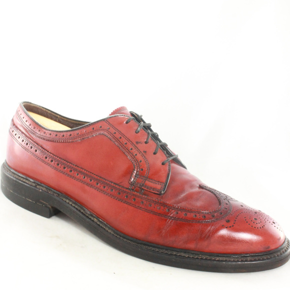 Roblee Shoes Vintage Red Leather Wingtip Dress Poshmark